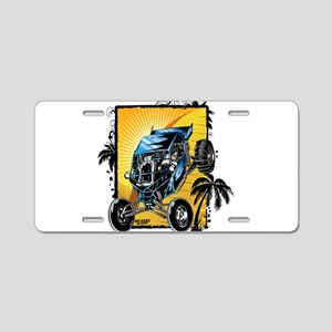 Blue Dune Buggy Aluminum License Plate