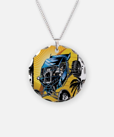 Blue Dune Buggy Necklace