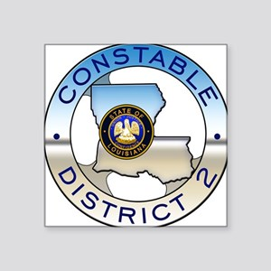 "Louisiana Constable Square Sticker 3"" x 3"""