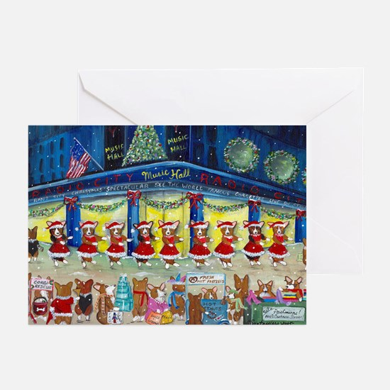 A Christmas Corgi Spectacular Greeting Cards (Pk o