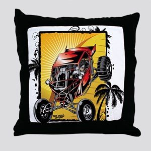 Desert Sand Buggy Throw Pillow