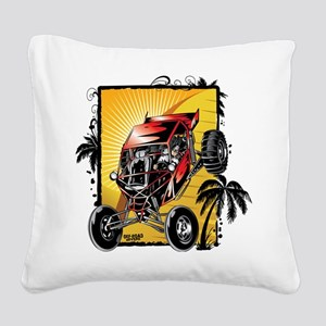 Desert Sand Buggy Square Canvas Pillow