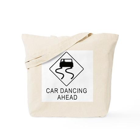 Car Dancing Ahead Tote Bag