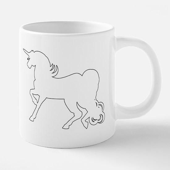 White Unicorn Silhouette Mugs