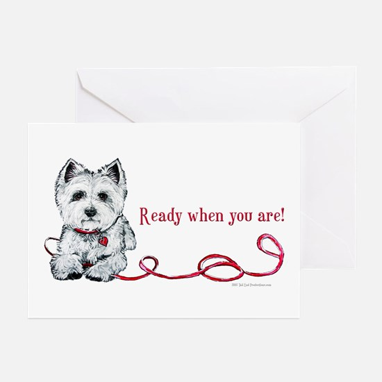 Westhighland White Terrier Re Greeting Cards (Pk o