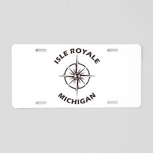 Isle Royale - Michigan Aluminum License Plate