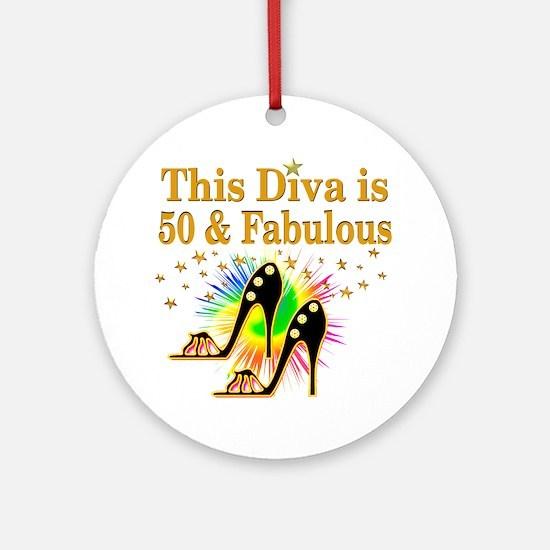 50TH PRIMA DONNA Ornament (Round)