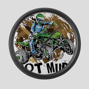 Got Mud ATV Quad Large Wall Clock