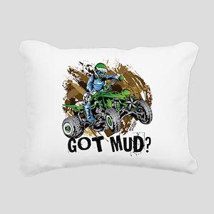 Got Mud ATV Quad Rectangular Canvas Pillow