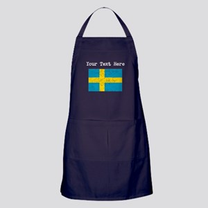 Sweden Flag (Distressed) Apron (dark)