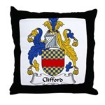 Clifford Family Crest  Throw Pillow