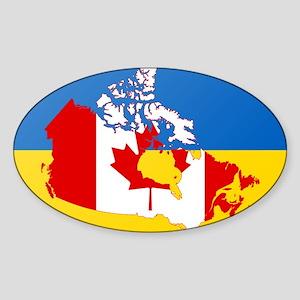 Ukrainian-Canadian Sticker