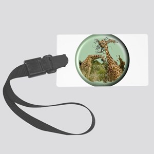 Giraffes Large Luggage Tag