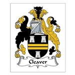 Cleaver Family Crest Small Poster