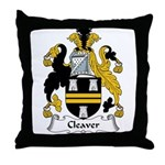 Cleaver Family Crest Throw Pillow