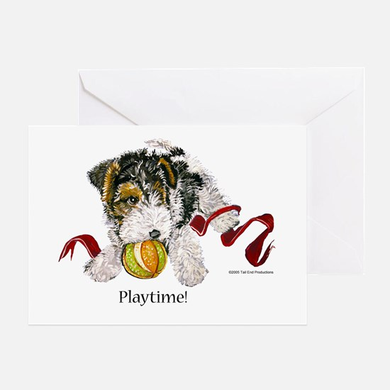 Fox Terrier Puppy Greeting Card