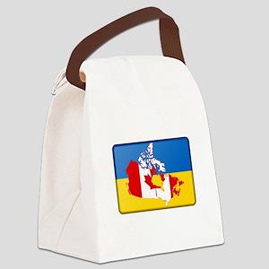 Ukrainian-Canadian Canvas Lunch Bag