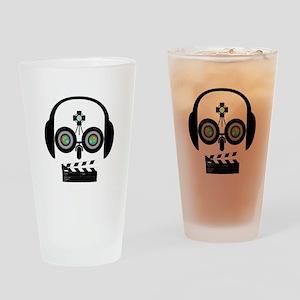 Indy Film Head Drinking Glass
