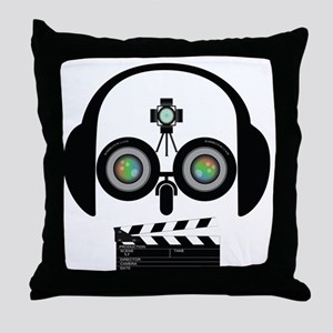 Indy Film Head Throw Pillow