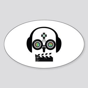 Indy Film Head Sticker (Oval)
