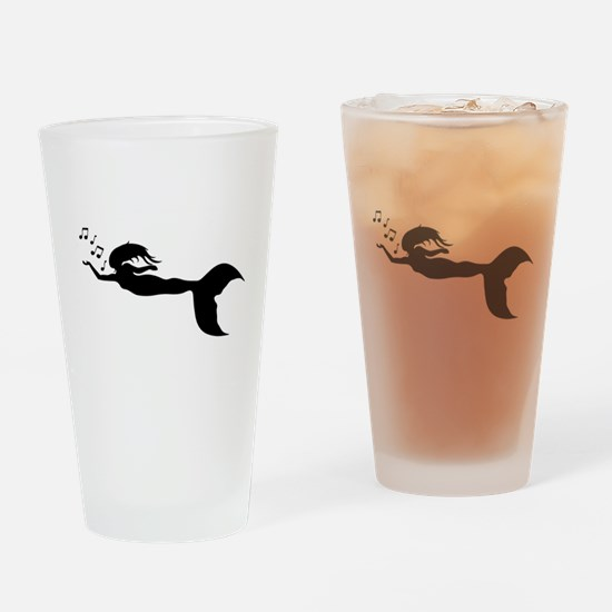 mermaid and music notes Drinking Glass