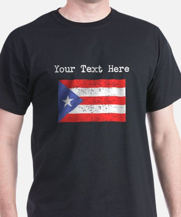 Puerto Rico Flag (Distressed) T-Shirt
