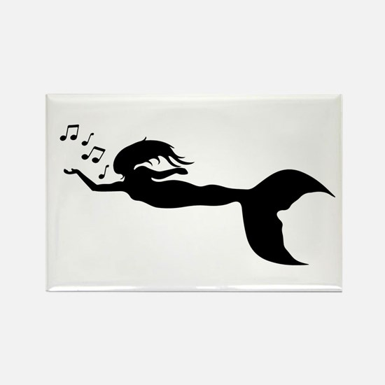 mermaid and music notes Magnets