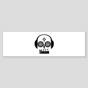 Indy Film Head Bumper Sticker