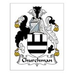 Churchman Family Crest Small Poster