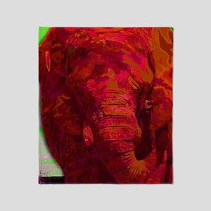 Painted Elephant Throw Blanket