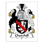 Churchill Family Crest Small Poster