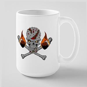 Happy Camper-Skull-1-Grey Mugs