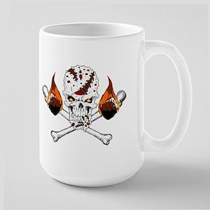 Happy Camper-Skull-White-1 Mugs