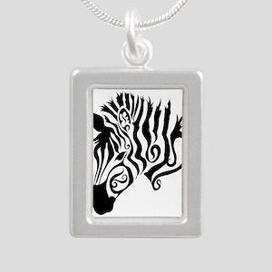 ZEBRA!! Silver Portrait Necklace