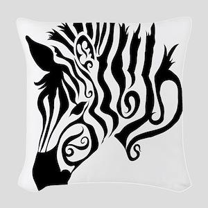 ZEBRA!! Woven Throw Pillow