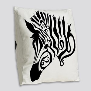 ZEBRA!! Burlap Throw Pillow