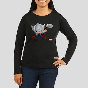 Thor Stylized 2 Women's Long Sleeve Dark T-Shirt