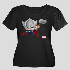 Thor Sty Women's Plus Size Scoop Neck Dark T-Shirt