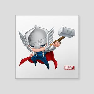 """Thor Stylized 2 Square Sticker 3"""" x 3"""""""