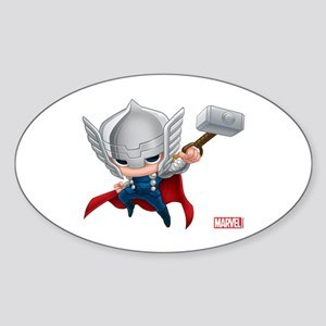 Thor Stylized 2 Sticker (Oval)