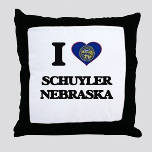 I love Schuyler Nebraska Throw Pillow