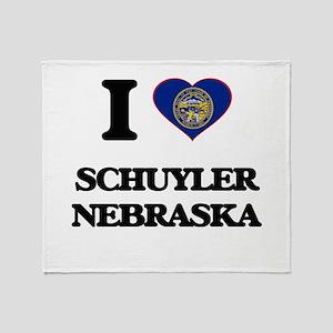 I love Schuyler Nebraska Throw Blanket