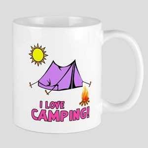I Love Camping-3-Pink Mugs