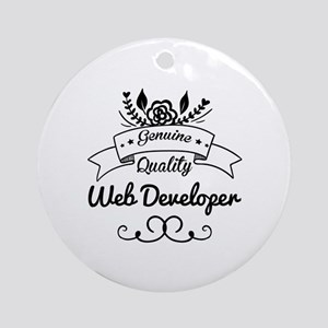 Genuine Quality Web Developer Ornament (Round)