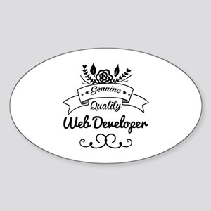Genuine Quality Web Developer Sticker (Oval)