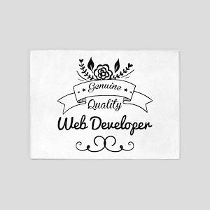 Genuine Quality Web Developer 5'x7'Area Rug