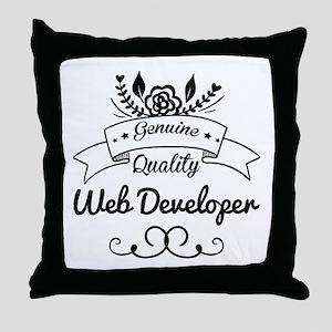 Genuine Quality Web Developer Throw Pillow