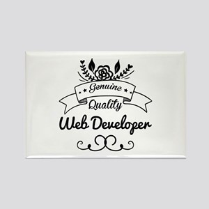 Genuine Quality Web Developer Rectangle Magnet