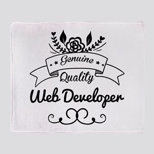 Genuine Quality Web Developer Throw Blanket