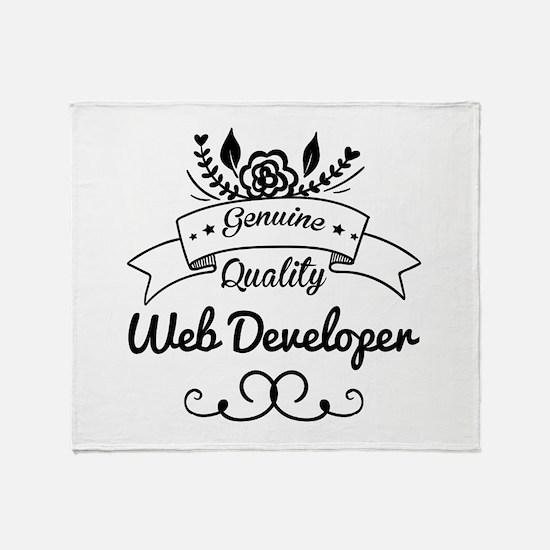 Genuine Quality Web Developer Throw Blanket